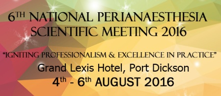 6th National Perianaesthesia Scientific Meeting 2016