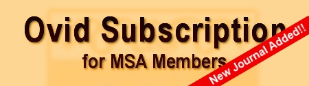 Ovid Subscription for MSA Members. Click here to view more . . .